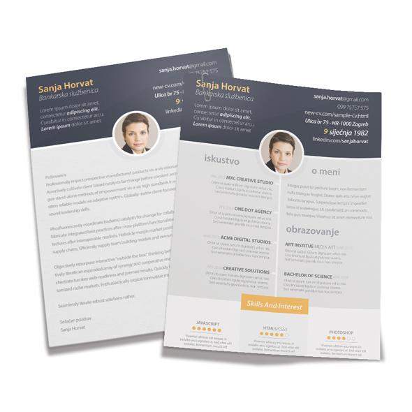 Zivotopis Izrada Cv Curriculum Vitae Resume